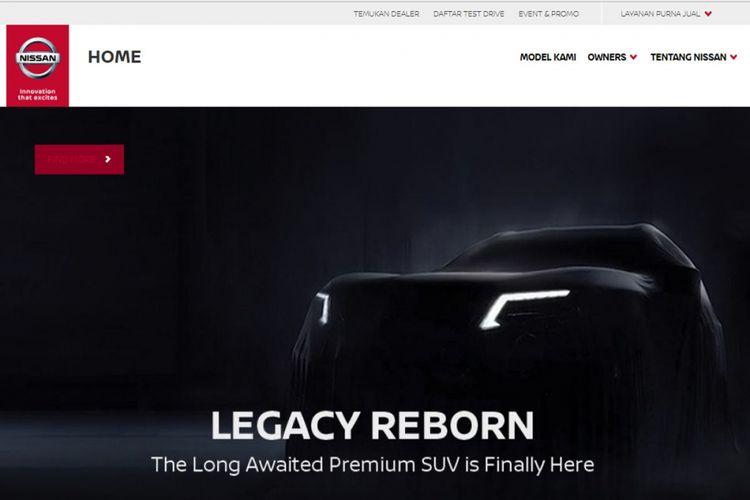 Nissan Terra dipajang di situs resmi Nissan Motor Indonesia (NMI).(ISTIMEWA)