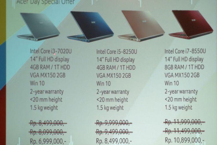 Harga Laptop Acer Dapat Diskon Selama Juli September Kompas Com