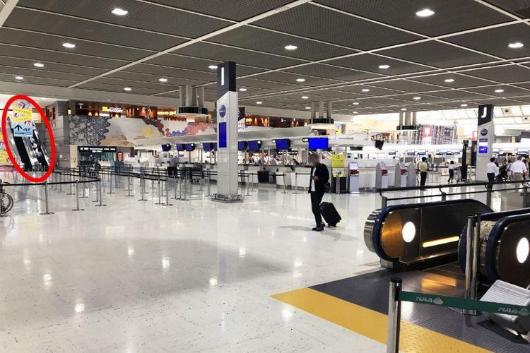 Lantai tiga Terminal 2 adalah lobi Keberangkatan Internasional.