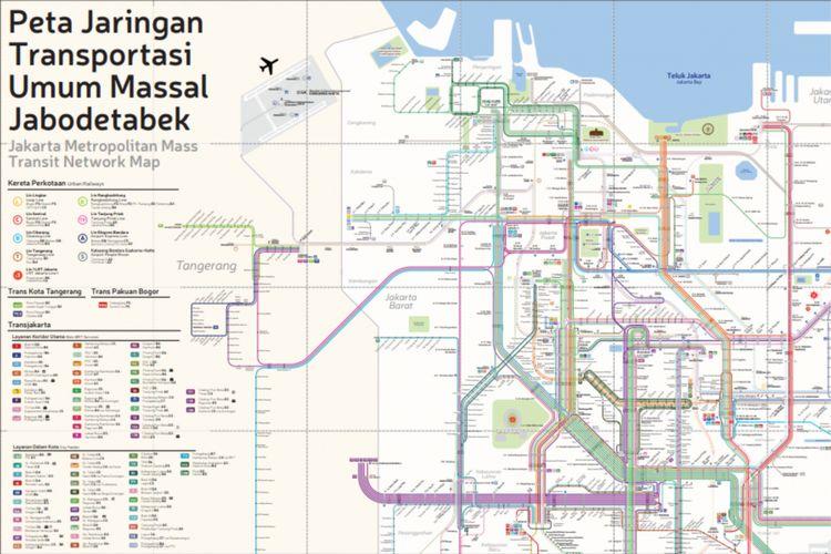 Pembuatan peta transportasi terintegrasi ini juga menyesuaikan dengan kondisi Jakarta terkini per Juli 2018.