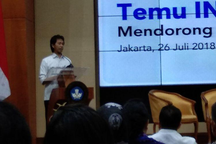 Kepala Balitbang Kemendikbud Toto Supriyatno dalam Temu INOVASI (26/7/2018).