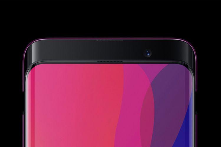 Kamera depan Oppo Find X hanya akan menyembul ke atas ketika pengguna akan menjepret selfie atau melakukan face recognition. Selebihnya, modul kamera selalu tersimpan di dalam bodi perangkat.