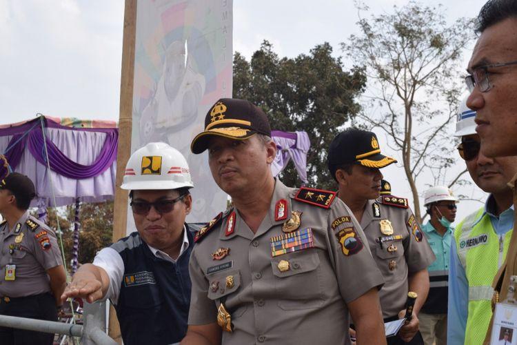 Kapolda Jateng, Irjen Pol Condro Kirono saat berkunjung di Bendungan Logung Kudus, Jateng Selasa (31/7/2018).