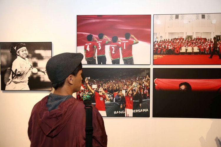 Pameran foto Festival Fotografi Kompas di Bentara Budaya Jakarta, Selasa (31/7/2018). Festival foto yang bertajuk Sportscapes ini dimeriahkan dengan peluncuran buku, diskusi dan workshop fotografi.