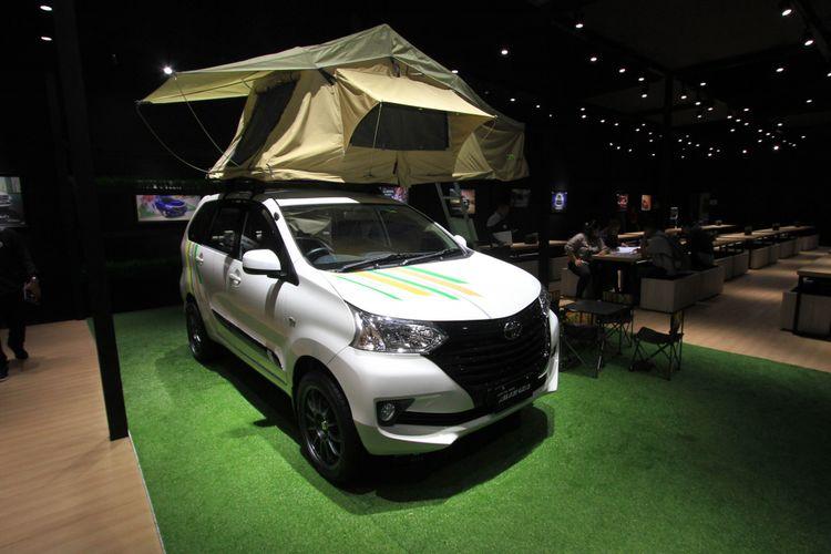 Toyota Avanza yang dipamerkan di belakang stan Toyota GIIAS 2018