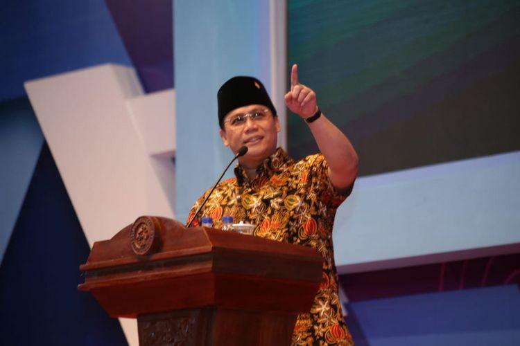 Wakil Sekretaris Jenderal PDI-P Ahmad Basarah saat menjadi pembicara di Universitas Negeri Malang (UM), Rabu (8/8/2018).