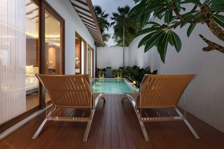 Desain kolam renang Asuri Villa di Bali karya Made Dharmendra Architect