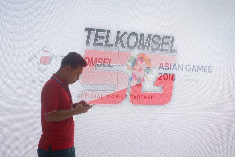 Ilustrasi layanan 5G Telkomsel.