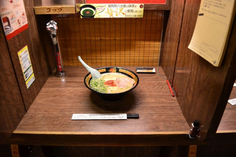 makan di tempat semi privat