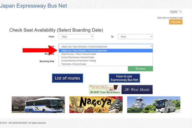 situs resmi JR Bus Kanto