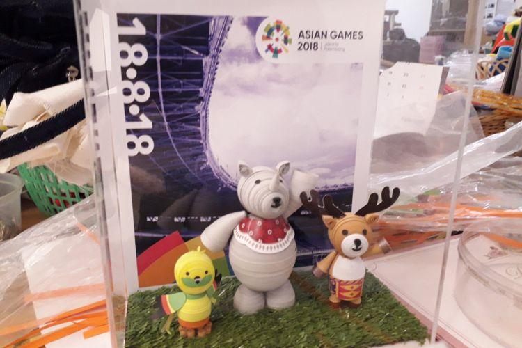 Maskot Asian Games dari precious one untuk tamu VIP pada pembukaan Asian Games