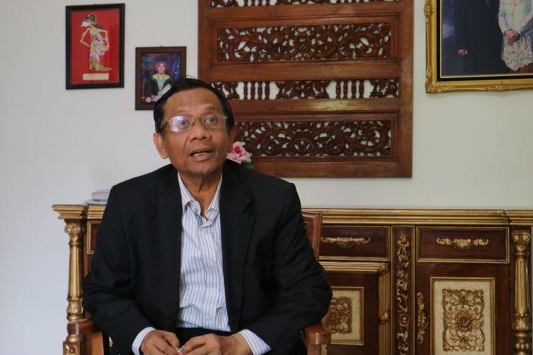 Mahfud MD, saat berbincang dengan Kompas.com, di kediamannya di Sleman, Yogyakarta, 18 Agustus 2018.