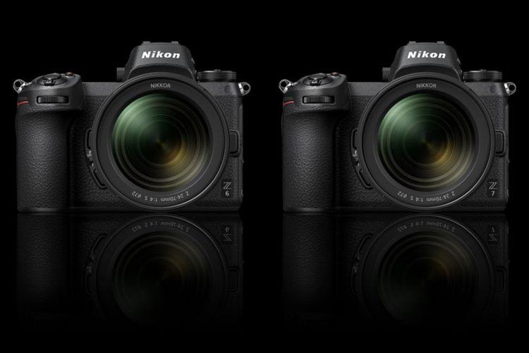 Kamera mirrorless full-frame Nikon Z7 dan Z6.