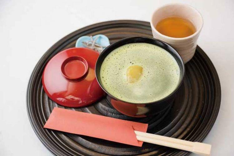 Matcha zenzai (850 yen)