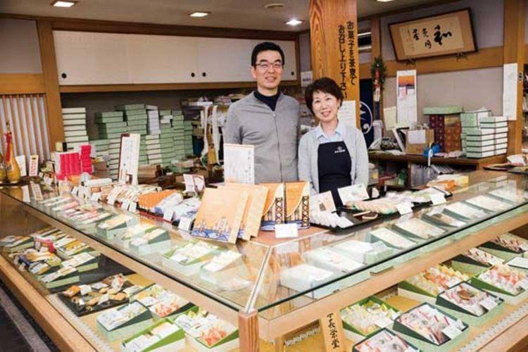 Pemilik toko generasi ke tiga, Nagate-san dan istri