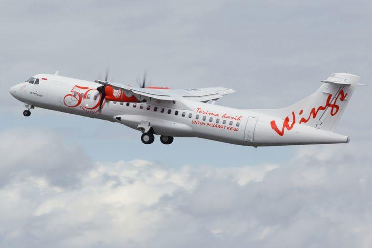 Pesawat ATR72 Wings Air.
