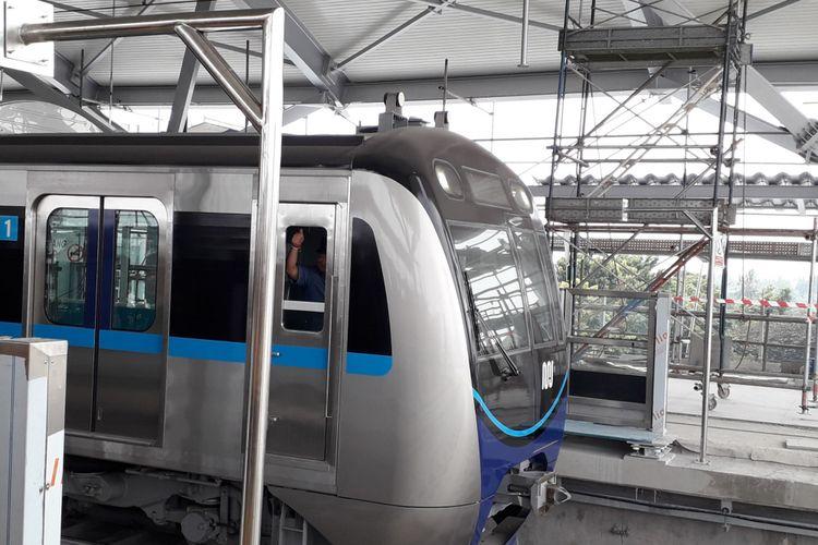 MRT di Depo Lebak Bulus, Selasa (28/8/2018)