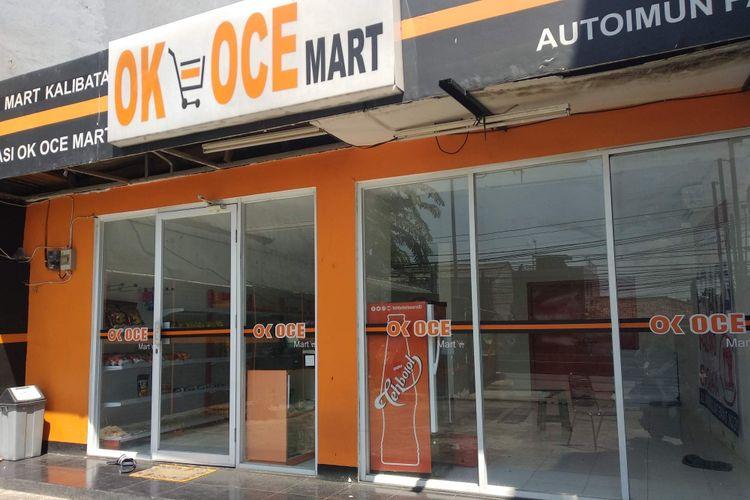 OK OCE Mart Kalibata yang berada di Jalan Warung Jati Barat (Warung Buncit) tampak sepi, Senin (3/9/2018) siang.