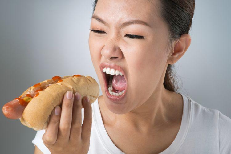 Ilustrasi makan, lapar
