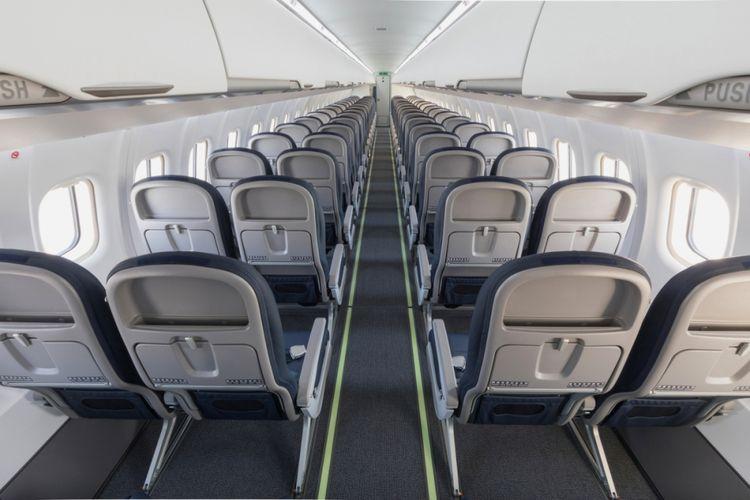 Desain kabin Armonia di pesawat ATR.