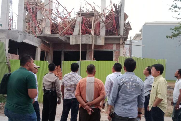 Proyek pembangunan rumah tinggal yang runtuh di Pantai Indah Kapuk, Kamis (13/9/2018) kemarin.
