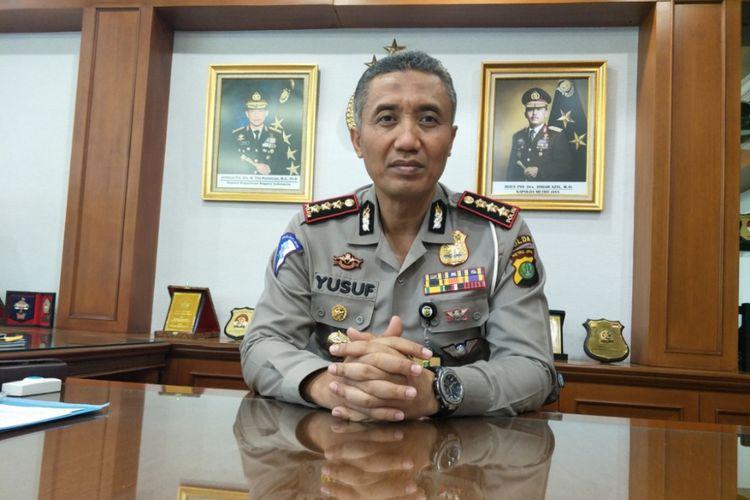 Direktur Lalu Lintas Polda Metro Jaya Kombes Yusuf saat ditemui di ruangannya, Senin (17/9/2018).