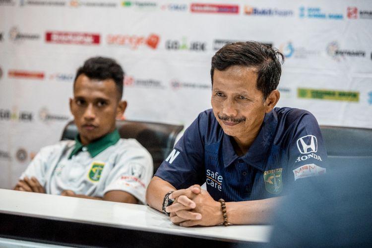 Pelatih Persebaya Surabaya Djadjang Nurdjaman.