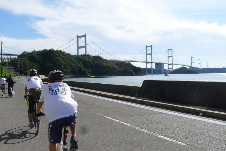 Bersepeda di Imabari, Jepang