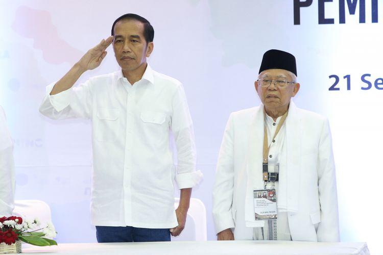 Joko Widodo dan Maruf Amin
