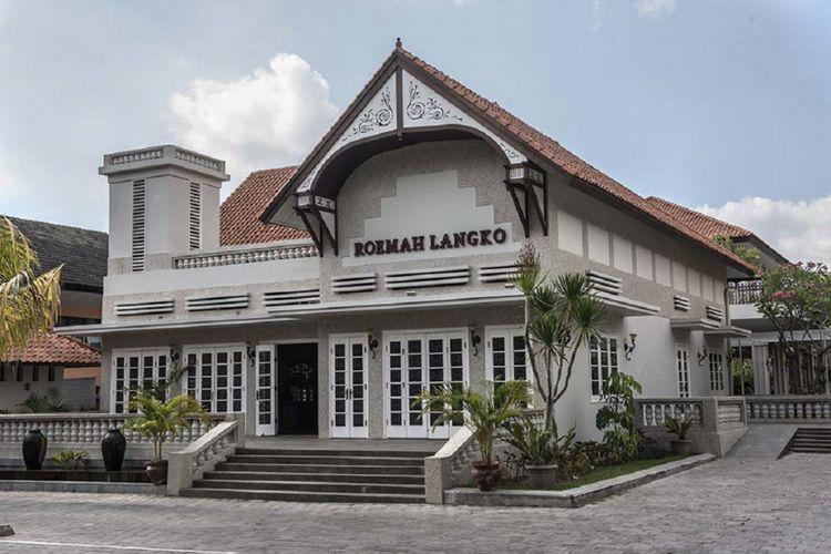 Fasad bangunan Roemah Langko memancarkan kesan gaya kolonial