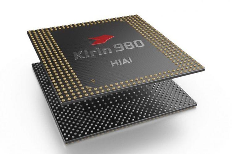 Ilustrasi chip Huawei Kirin 980.
