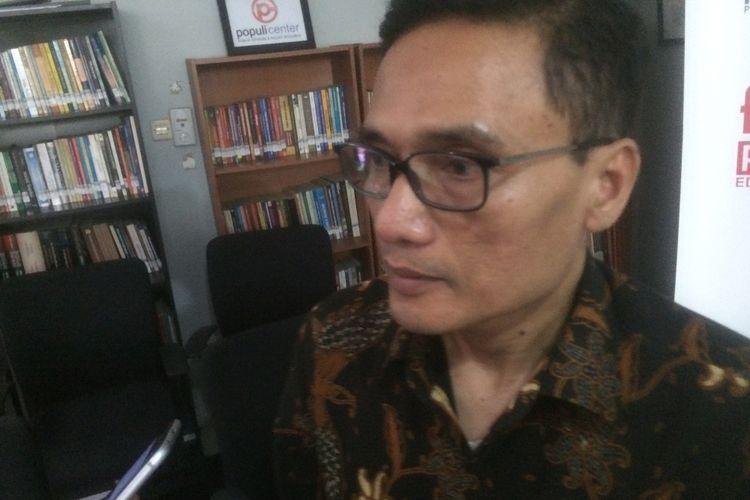 Direktur Pencapresan DPP PKS Suhud Aliyudin di Kantor Populi Center, Slipi, Jakarta Barat, Kamis, (27/9/2018).