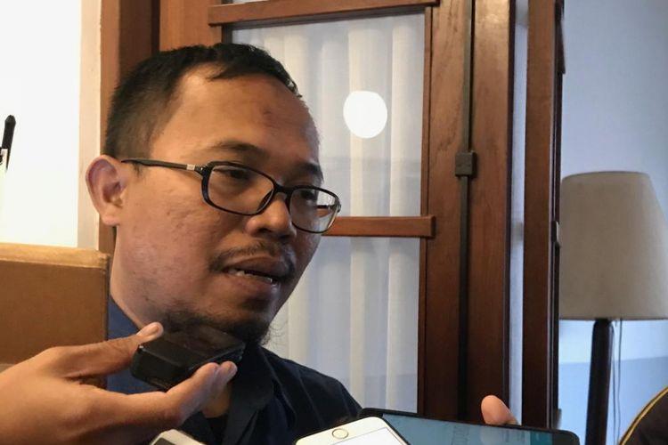 Kepala Humas BPJS kesehatan M Iqbal Anas Maruf di Kedai Tjikini, Jakarta Pusat, Kamis (27/9/2018).