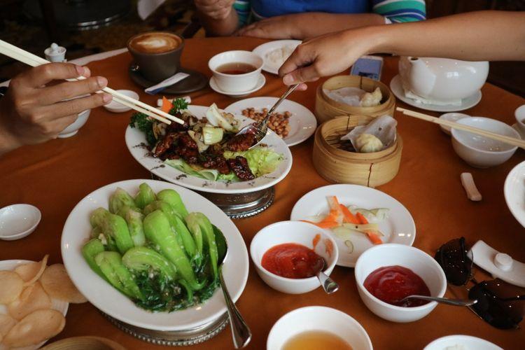 Sajian chinese food di Resto 5 Senses, Bali Dynasty Resort, Kuta, Bali.