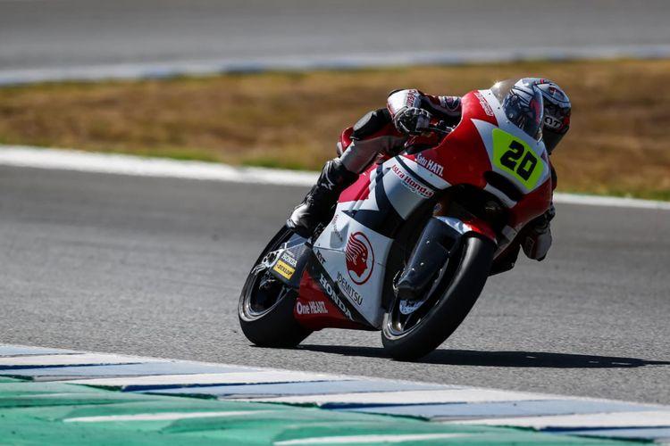 Dimas Ekky start dari posisi 6 di kelas Moto2 FIM CEV Repsol 2018 di Circuito de Jerez Spanyol, Minggu (30/9/2018)
