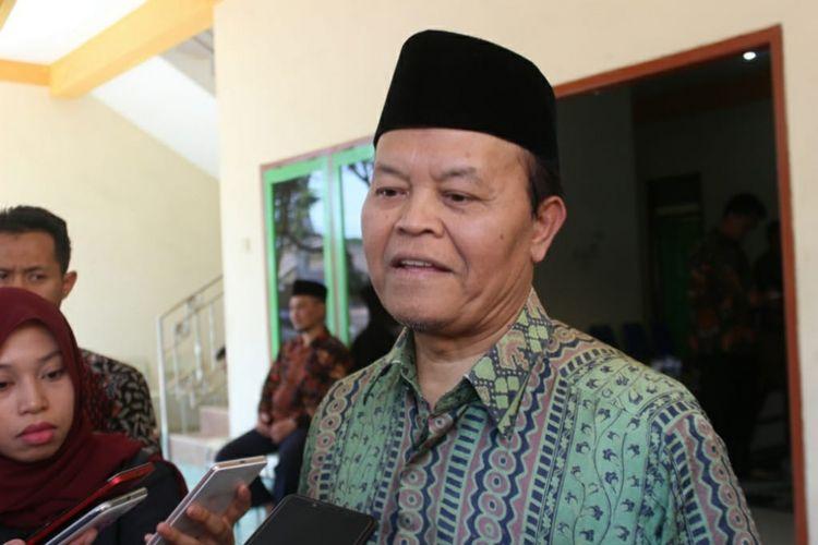 Wakil Ketua MPR RI, Hidayat Nur Wahid usai sosialisasi empat pilar MPR RI  di Pondok Pesantrean Daarul Ukhuwwah, Pakis, Kabupaten Malang, Kamis (4/10/2018)