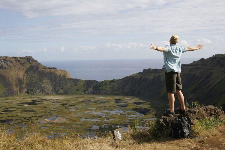Rano Kau, Easter Islan, Cile, Amerika Selatan (Tapati, Isla de Pascua).