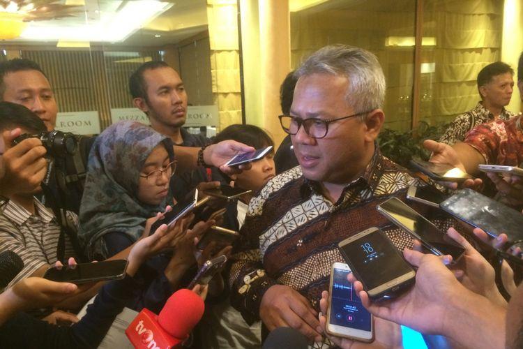 Ketua Komisi Pemilihan Umum RI Arief Budiman di Hotel Aryaduta, Jakarta Pusat, Jumat (5/10/2018).