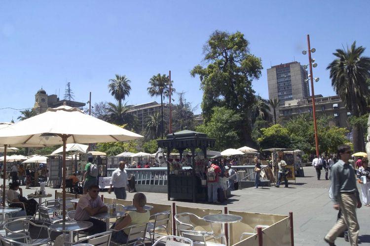 Plaza de Armas, Santiago, Cile, Amerika Selatan.