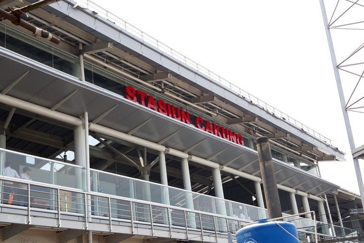 Wajah baru Stasiun Cakung, selasa (9/10/2018)