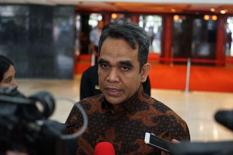 Sekjen Partai Gerindra Ahmad Muzani di Kompleks Parlemen, Senayan, Jakarta, Rabu (10/10/2018).