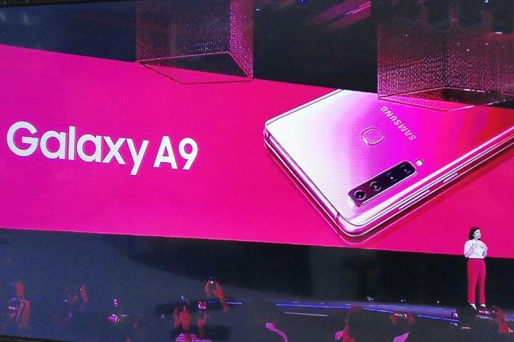 Marketing Samsung Malaysia, Yvonne Woo di acara peluncuran Galaxy A9 di Kuala Lumpur, malaysia, Kamis (11/10/2018).