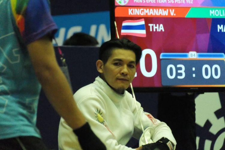 Krisana Sriujun, atlet anggar kursi roda Malaysia di Asian Para Games 2018.