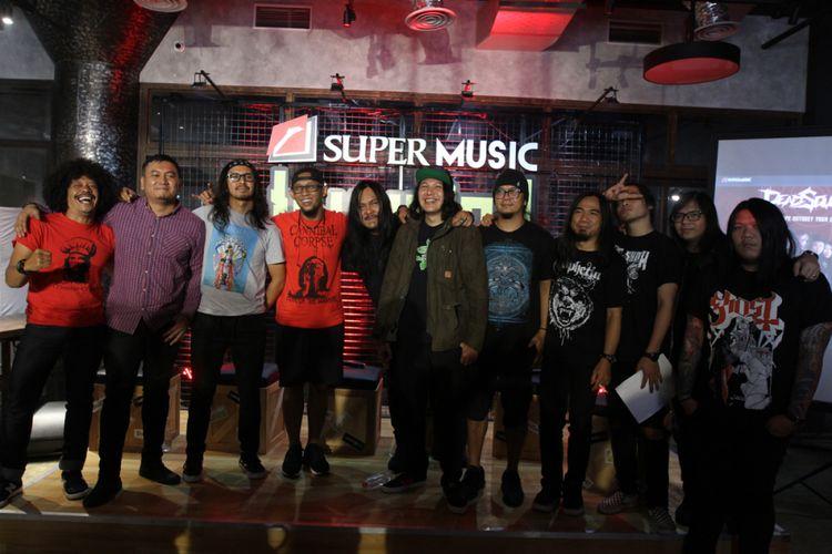 Jumpa pers Super Invasion di kawasan Radio Dalam, Jakarta Selatan, Kamis (11/10/2018).