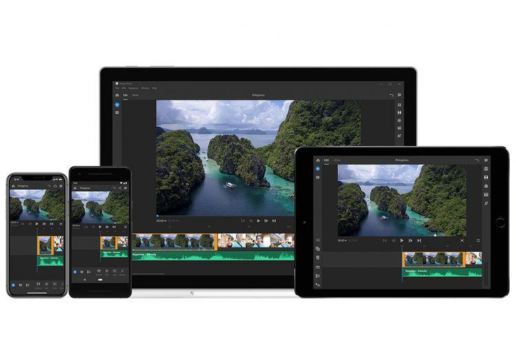 Aplikasi editing video Premiere Rush CC tersedia untuk desktop, tablet, dan smartphone.