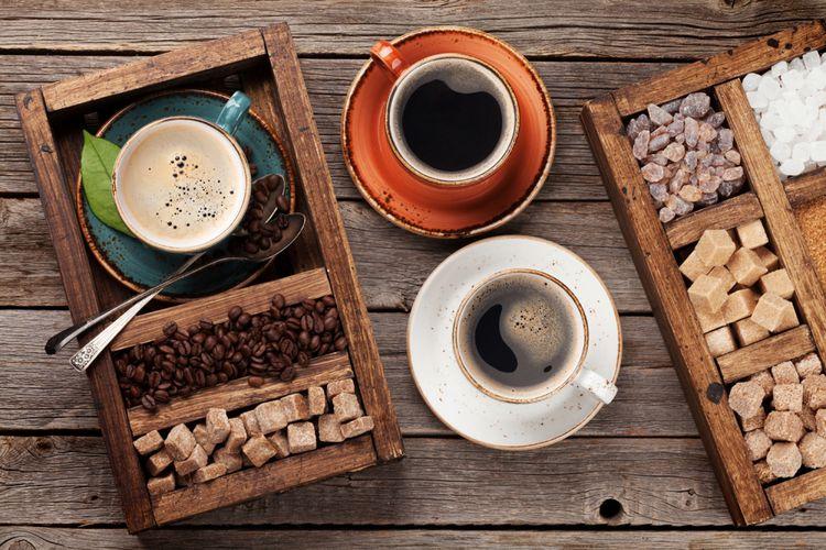 Ilustrasi kopi dan gula