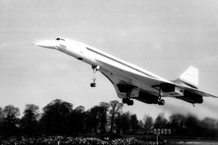 Pesawat Concorde ketika terbang