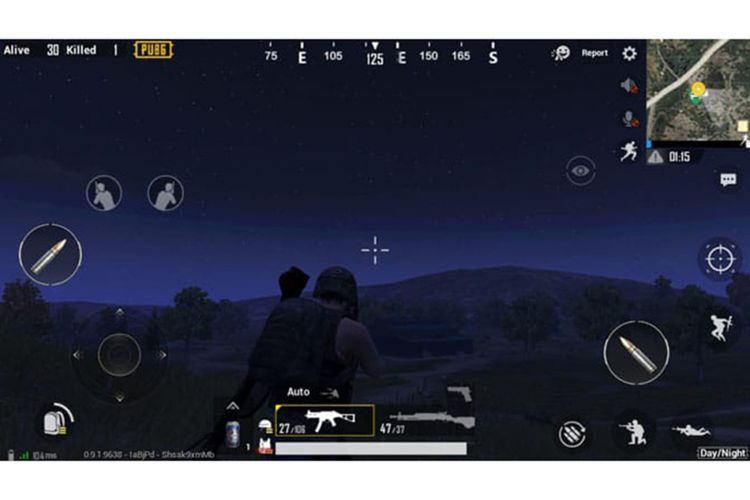 Mode malam di game PUBG Mobile.