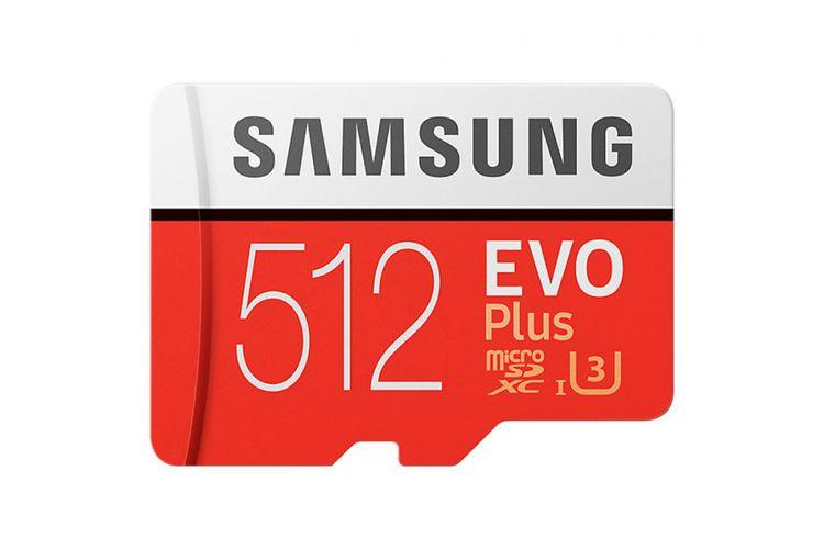 Kartu memori Samsung EVO Plus 512 GB MicroSDXC.