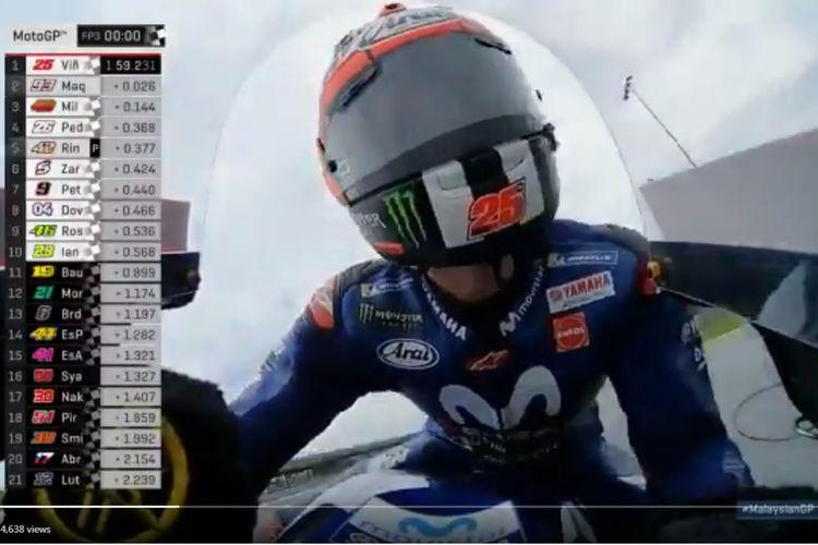 Vinales tercepat di FP3 GP Malaysia.